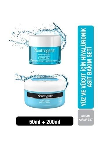 Neutrogena Hydro Boost Water Gel Nemlendirici 50 Ml+Jel Vücut Kremi 200 Ml Renksiz